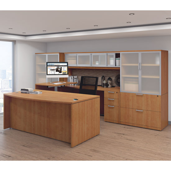 Office Source Modern Desk Typical U-Shaped Layout OS141